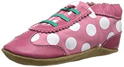 Robeez Dotted Dolly Crib Shoe (Infant), Hot Pink, 12-18 Months M US Infant