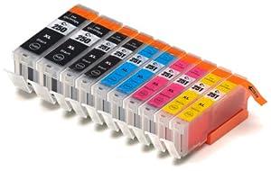 10 Pack Blake Printing Supply Ink Cartridges for Canon 251, 250 Pixma iP7220 iX6820 MG5420 MG5422 MG5520 MG5522 MG5620 MG6420 MG6620 MX722 MX922