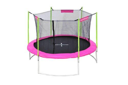 hudora trampolin mit sicherheitsnetz 305 cm girly schwarz hellgr n pink 65540 preisvergleich. Black Bedroom Furniture Sets. Home Design Ideas