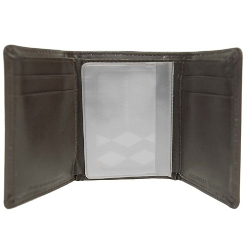 Geoffrey Beene Mens Genuine Leather Tri-Fold Wallet