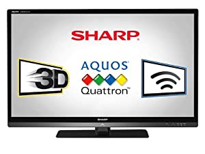 Sharp LC46LE835U Quattron 46-inch 1080p 240 Hz 3D LED-LCD HDTV, Black