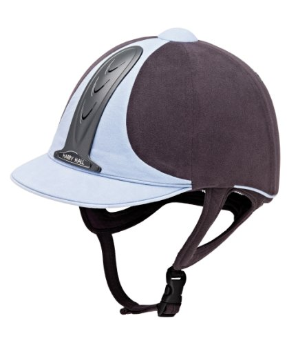 Harry Hall Legend Riding Hat - Grey/Pale Blue, 7 3/8 Inches