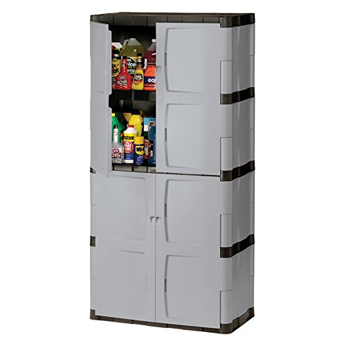Rubbermaid 7083 72-Inch Four-Shelf Double-Door Resin Storage Cabinet (Resin Storage Shelves compare prices)