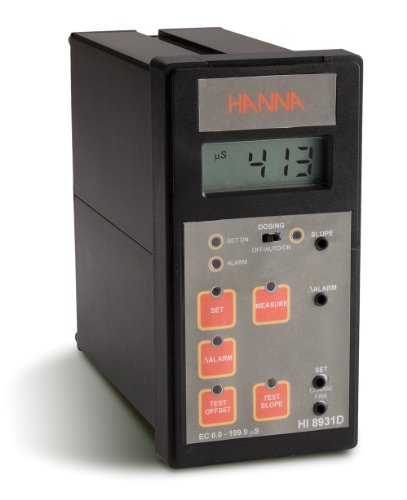 Hanna Instruments Hi8931Dn Panel Mounted Conductivity Analog Controller With Input From Probe Or Transmitter, 0.0 To 199.9 Microsecond/Cm, 0.1 Microsecond/Cm Resolution