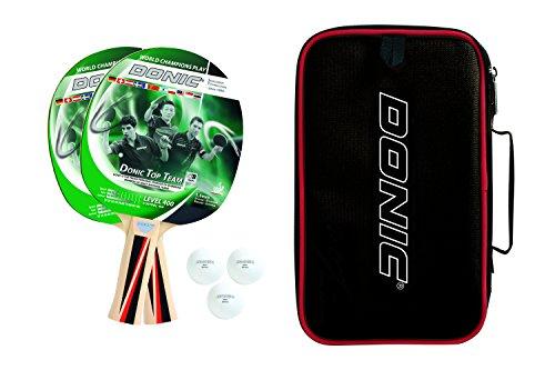 Donic-Schildkröt Top Teams 4002giocatori in Carrybag, 788495Table Tennis Set, verde/nero, M