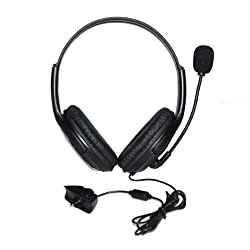 Generic Black Stereo Headset Headphone with Microphone for Microsoft XBOX 360 2.5mm GBOXHS02