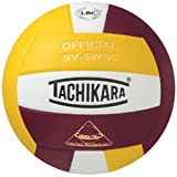 Tachikara Sensi-Tec Composite High Performance Volleyball (Cardinal/White/Gold)