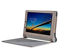 SPL PU Leather Book Stand Cover for Lenovo Yoga 2 8-inch Tablet -Golden