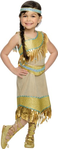Rubies Golden Indian Princess Deluxe Costume, Child Small