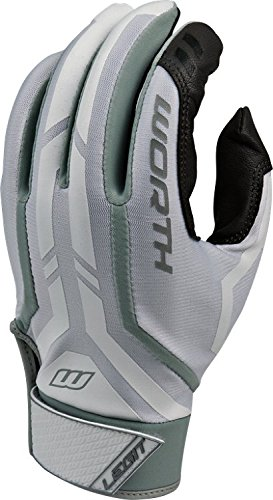 Worth Legit Slow Pitch Pair Batting Gloves, Grey, Medium (Mens Slow Pitch Softball Gloves compare prices)