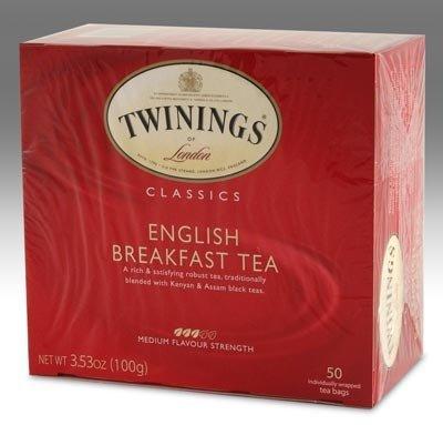 Twinings English Breakfast Tea, Tea Bags, 50-Count Boxes (50 Tea Bags)