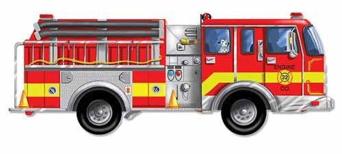 Cheap Melissa & Doug Giant Fire Truck Floor Puzzle by Melissa and Doug (B003L42Z2S)
