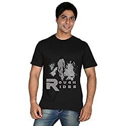 Trendster Rough Rides Round Neck Printed T-shirt