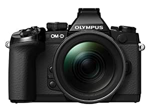 Olympus OM-D EM-1 Compact System Camera - Black (16.3MP, Live MOS, M.Zuiko 12-40mm Lens) 3.0 inch Tiltable Touch Screen LCD