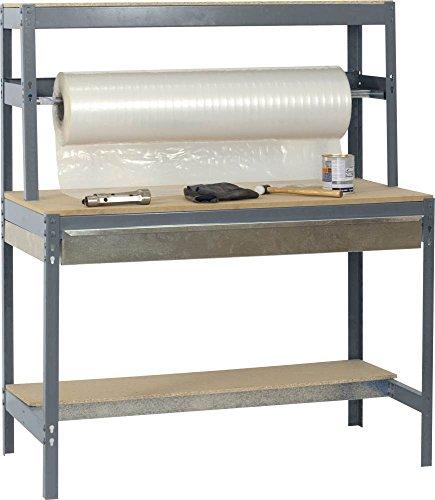 Werkbank / Packtisch BT-4 Box 1500, Farbe: Grau