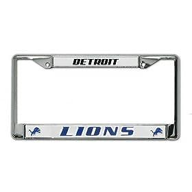 Rico Detroit Lions Chrome License Plate Frame