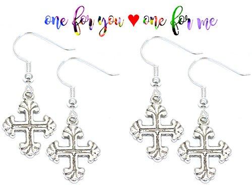 kim-and-kendall-tibetan-silver-earrings-buy-one-get-one-free-rrp-795-cross