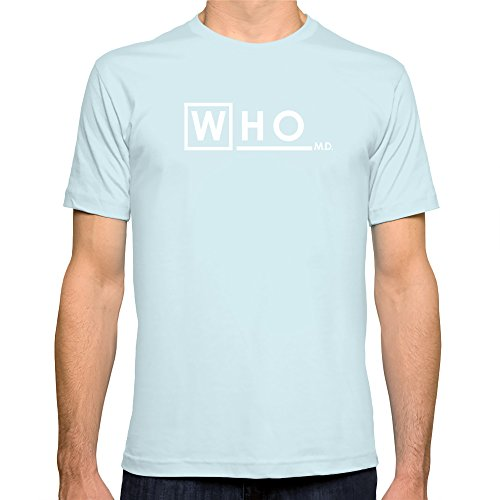 Society6 Men'S Who M D Doctor Who House Md Mashup T-Shirt 2X-Large Light Blue