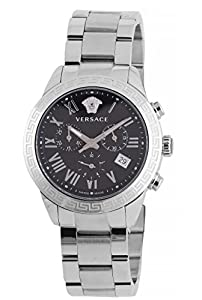 Versace Men's P6C99GD008 S099 Pair Analog Display Quartz Silver Watch
