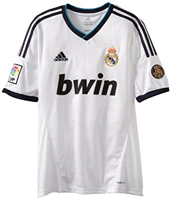 Amazon.com : Real Madrid Home Authentic Soccer Jersey ...