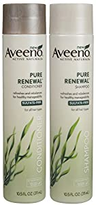 Aveeno Active Naturals Pure Renewal Shampoo and Conditioner Set, 21 Fluid Ounce