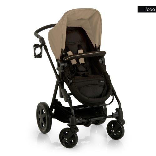 i'coo Photon Stroller, Beige/Black, 0-48 Months - 1