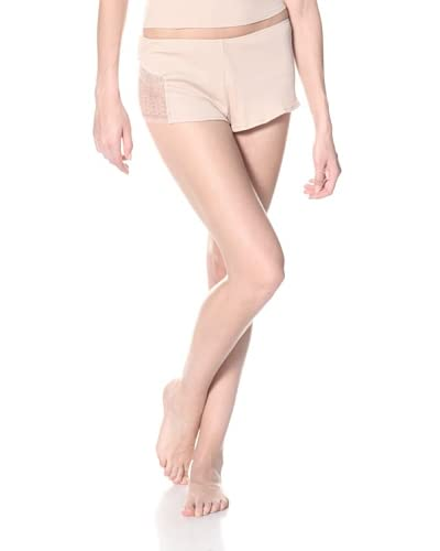 skin Women's Ribbed Lace Shorty