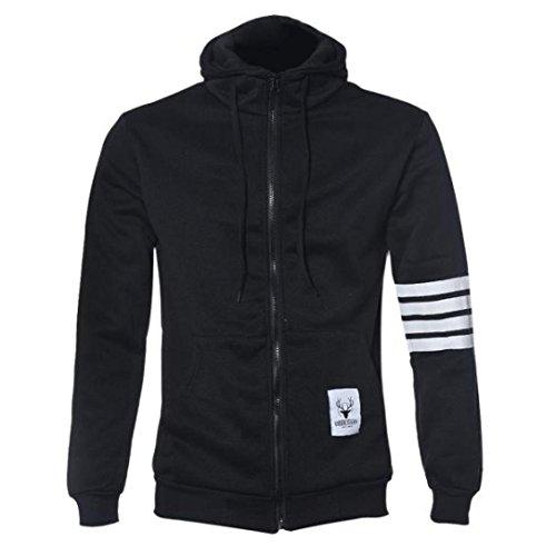 giacche per gli uomini, FEITONG hoodie cerniera casuale felpa con cappuccio (...