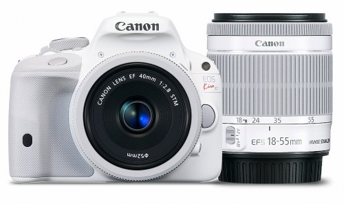 Canon EOS Kiss X7 (White) Digital SLR with Double lens Kit EF 40mm F2.8 STM + EF-S 18-55mm F3.5-5.6 IS STM