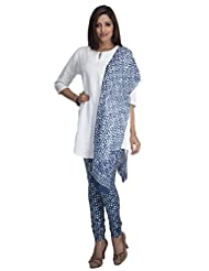 Veda Cotton Organic Printed Legging With Stole & Tunic