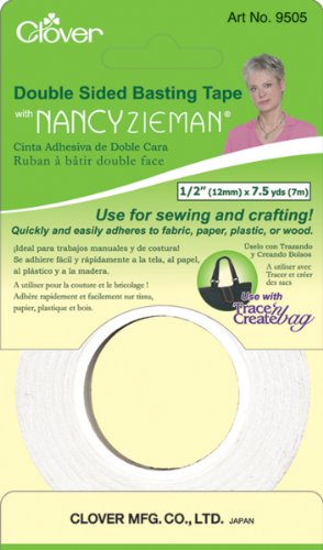 Clover Double Sided Basting Tape with Nancy Zieman, 1/2-Inch by 7.5 yd.