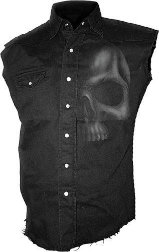 Spiral Shadow Skull Camicia senza maniche nero L