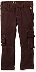 UFO Boys' Trousers (AW16-NDF-BKT-289_Brown_8 - 9 years)