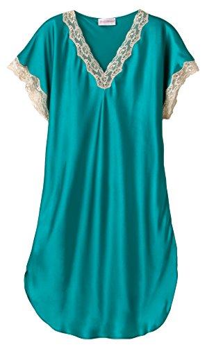 Shadowline Charmeuse Sleep Gown (4503), Green, Large