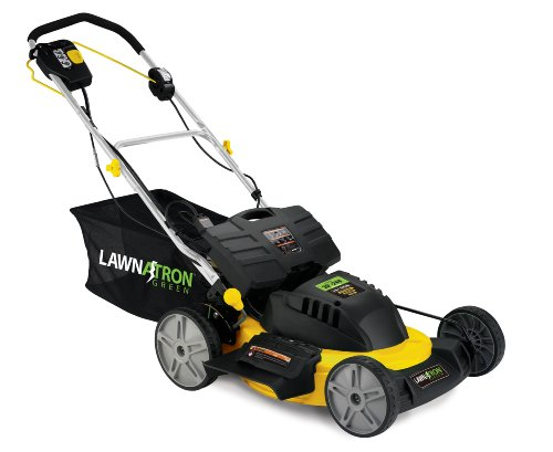 Self Propelled Cordless Electric Lawn Mower by LAWNATRON Green 20