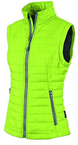 Charles River Apparel Women'S Radius Quilted Vest, Lime/Grey, Small