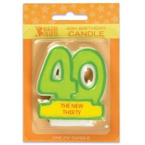 Oasis Supply 40th Birthday Candles, 2.75-Inch - 1
