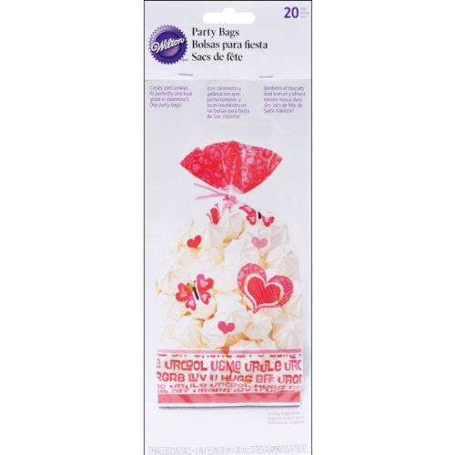 Valentine You Bake Me Smile Party Bags 20 Count Cellophane - 1