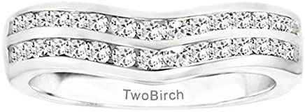 Silver Amazing Anniversary Wedding Ring with Diamonds 048 ct twt