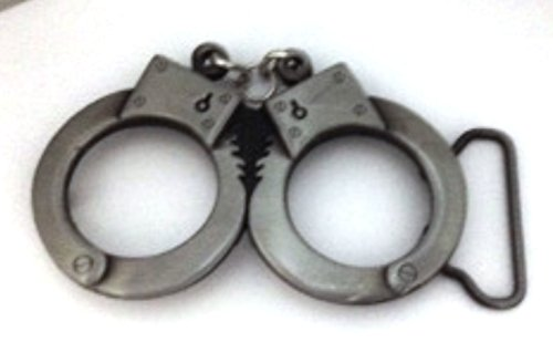 Handcuff Belt Buckle Gangsters Police Weapon Antiqued Finished Men Women