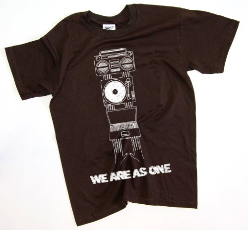 DMC Technics We Are As One DJ Mens T-Shirt Brown D058S Small