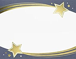 Great Papers! Shooting Stars Gold Foil Certificate, 8.5\