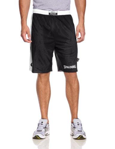 Spalding - Essential Reversible, pantalone corto da uomo Nero nero/bianco m