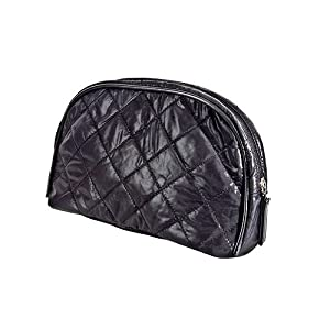 Harry D Koenig & Co Quilted Cosmetic Bag, Black, Medium