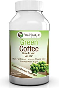 Pure Green Coffee Bean Extract 800mg - Diet Supplement Capsules Recommended By Dr. Oz to Lose Weight Fast - Boosts Metabolism to Burn Fat Quickly in Women & Men - Highest Quality and Max Strength Chlorogenic Acid - 100% Satisfaction or Money Back! by Proh