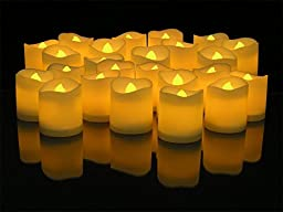 Youareking LED Lighted Flickering Votive Style Flameless Candles (96)