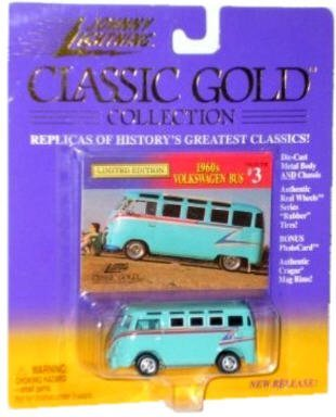 1960s Volkswagen Bus, Johnny Lighting Classic Gold Collection