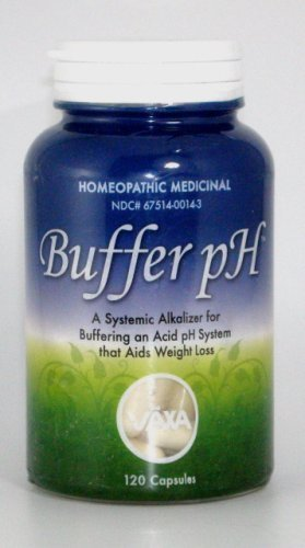 VAXA Homeopathic Medicinal Systemic Alkalizer for Buffering an Acid pH System, Buffer-pH, Capsules , 120 capsules