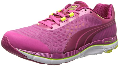 PUMA Women's Faas 600 V2 Running Shoe,Cerise/Fuchsia/Purple/Fluorescent Yellow,10 B US