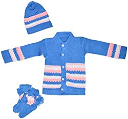 AKHIL & AARNA Baby Clothing Set (AA-2016-010, Blue, 0-3 Months)
